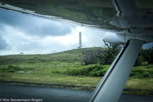 Underwing View of Kalaupapa Lighthouse, Molokai