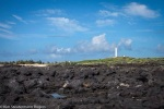 View of Kalaupapa Lighthouse from Lava Field, Molokai