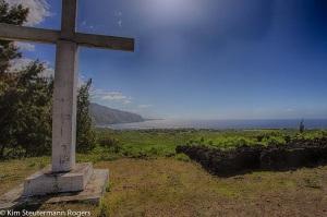 View of Kalaupapa from Giant Cross, Molokai