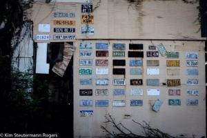 A Collection of License Plates at Kalaupapa