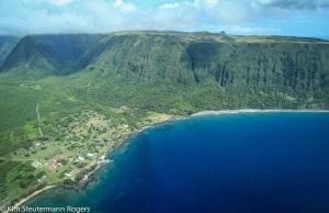 Aerial View of Kalaupapa Settlement