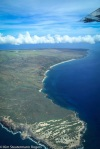 molokai, aerial view, coastline
