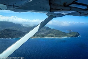 Underwing View of Koko Head and Koko Crater, Oahu