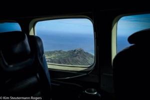 Through the Plane Window View of Diamond Head