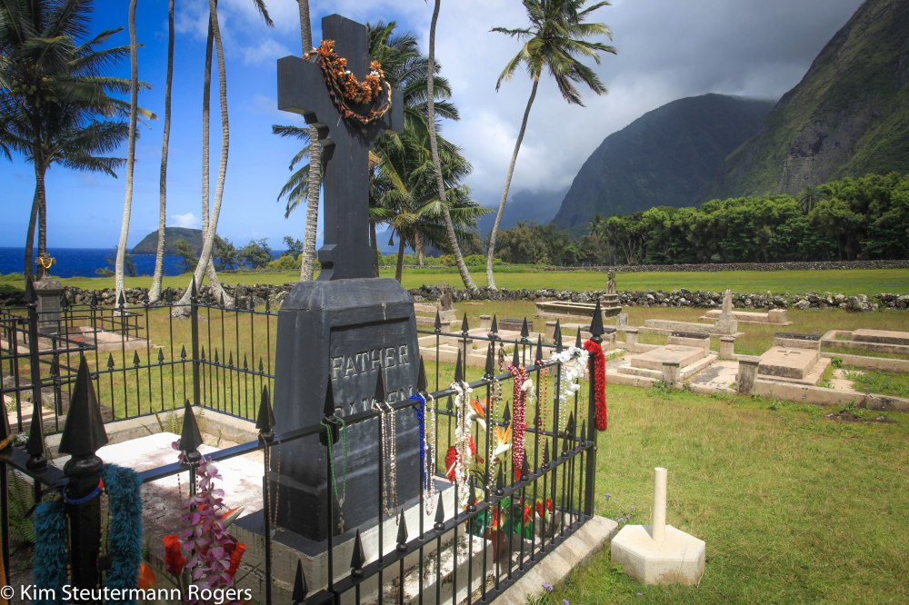 father damien's grave at Kalawao