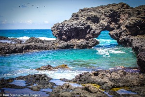 Coastline on north shore of Hawaii