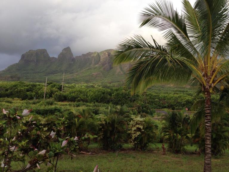 hurricane iselle brings rain to kauai