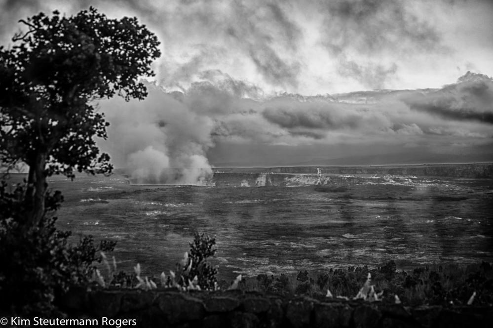 halemaumau crater at kilauea volcano