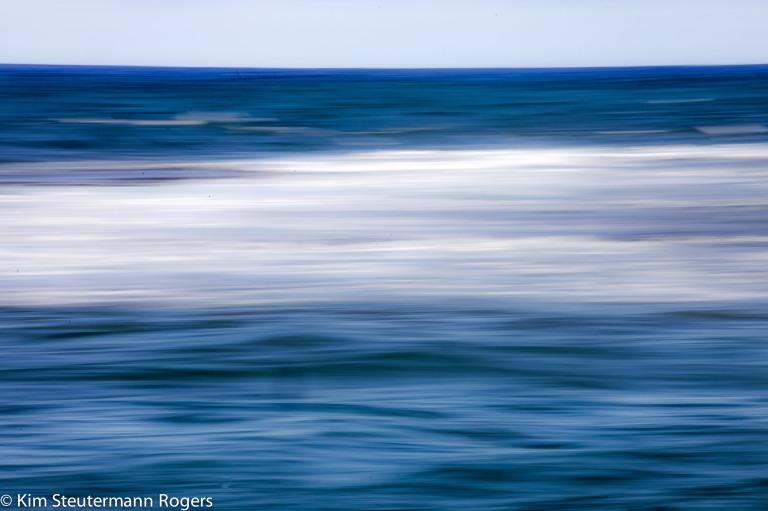 ocean, blur, panning effect