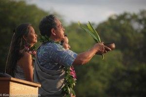 Akaka family blessing at Ke Kai Ola