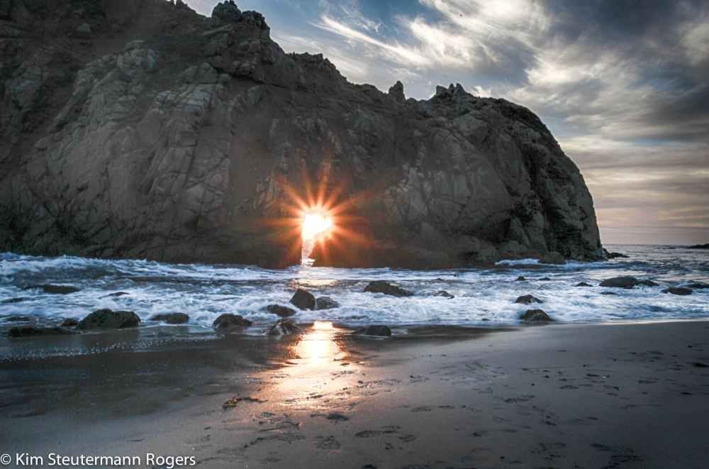 sunset starburst at pfeiffer beach