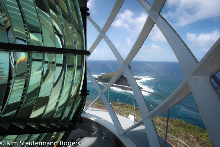 View from Inside Lantern Room of Kilauea Point Lighthouse.