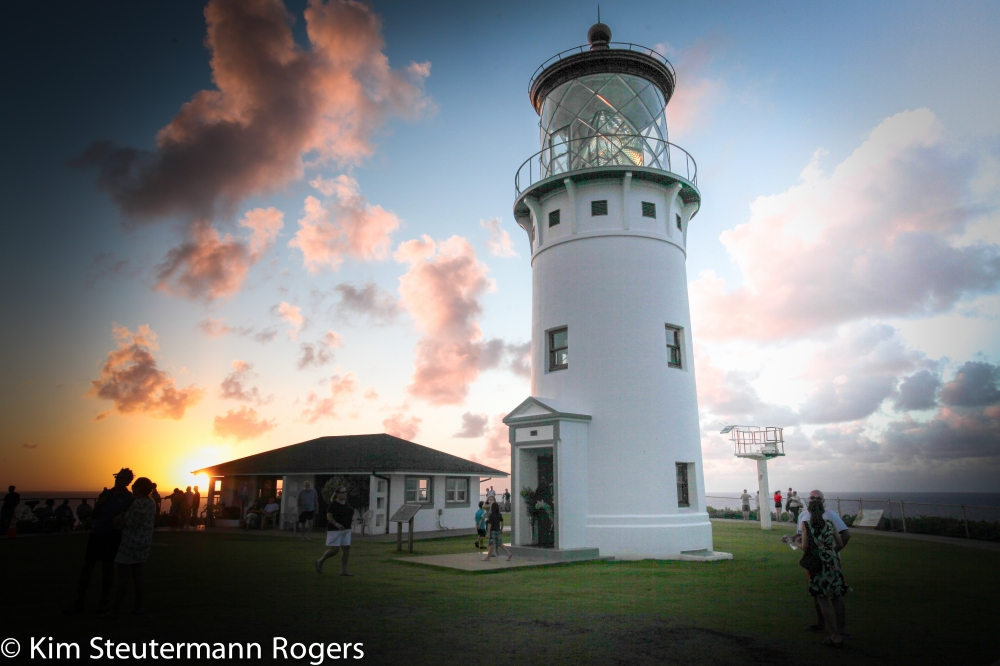 Kilauea Point Lighthouse at Sunset