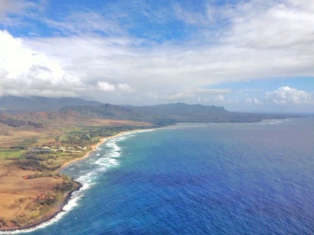 View of Kauai's East Side from the air
