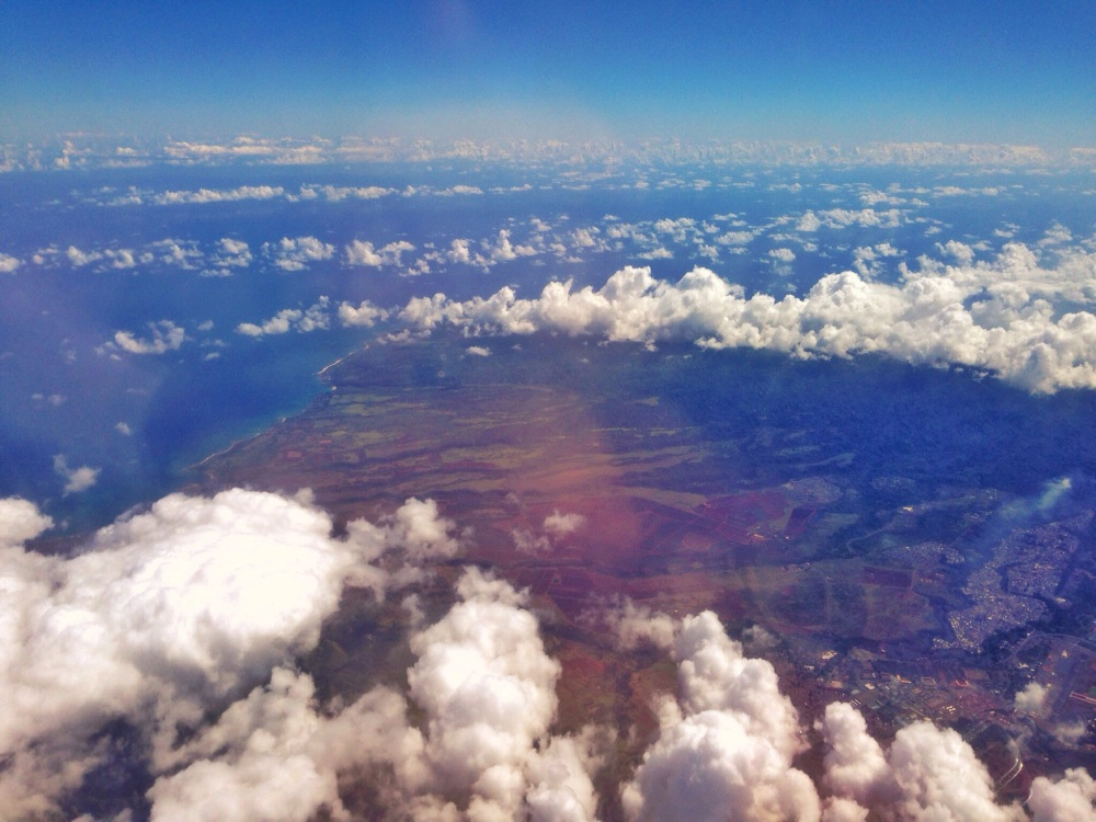 Flying over Oahu's Kaena Point.