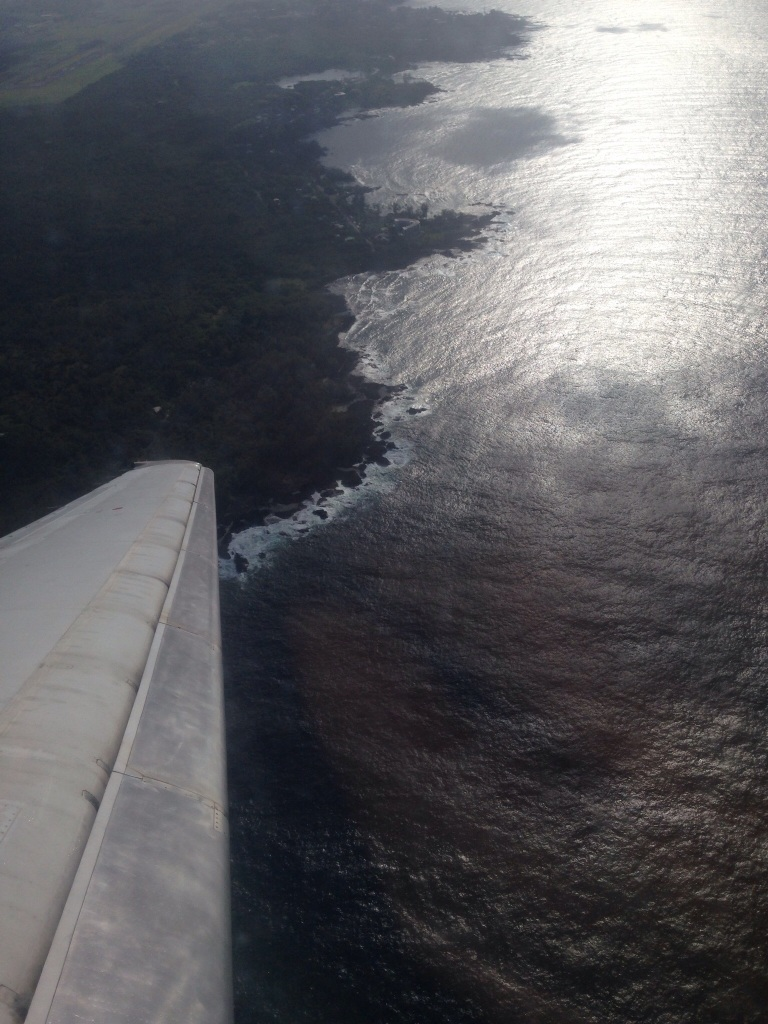 Flying over Hawaii Island
