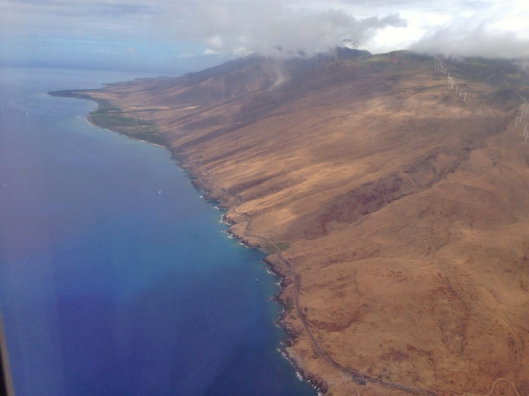 View of West Maui from the Air