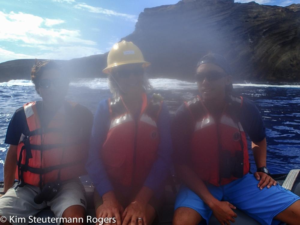 Hawaiian monk seal survey team off Lehua