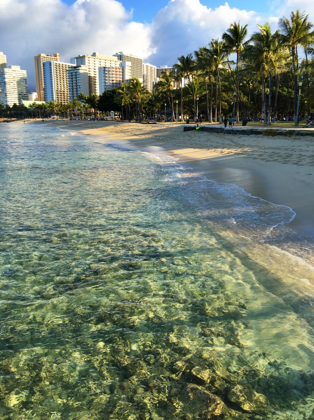 The water at Waikiki Beach is amazing
